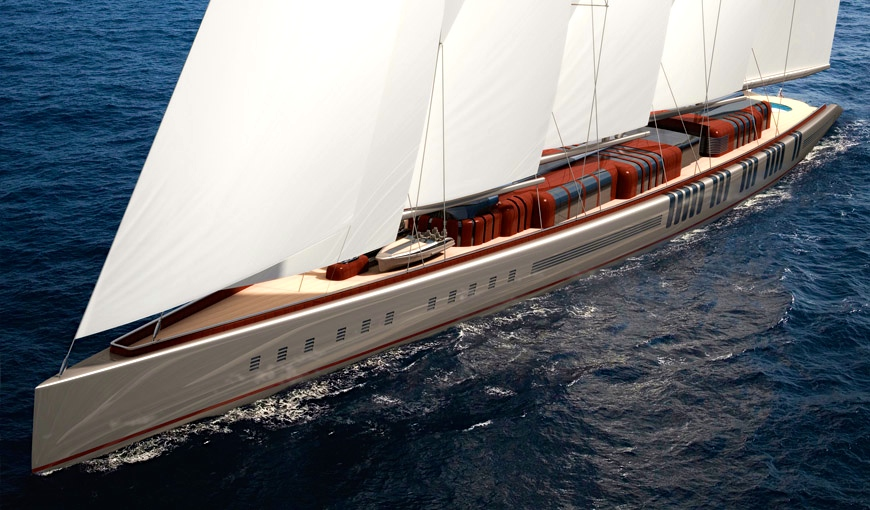 The world's biggest sailing yacht: 141 metres of wood