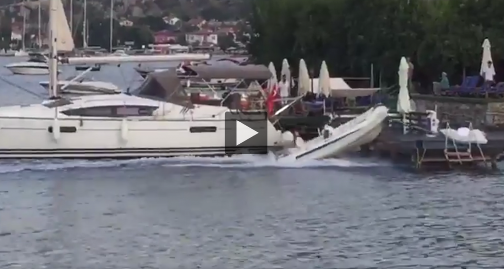 OUT-OF-CONTROL TENDER CRASHES INTO TWO YACHTS AND A JETTY