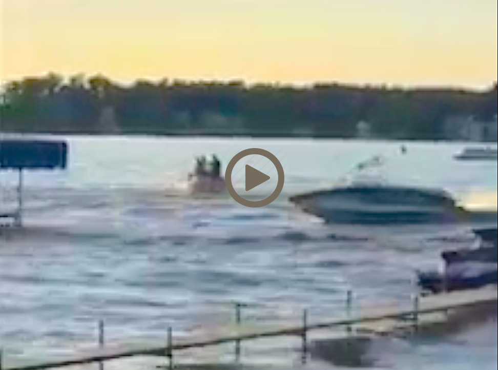 OUT-OF-CONTROL MOTORBOAT EJECTS OWNER AND GUESTS: PANIC IN INDIANA