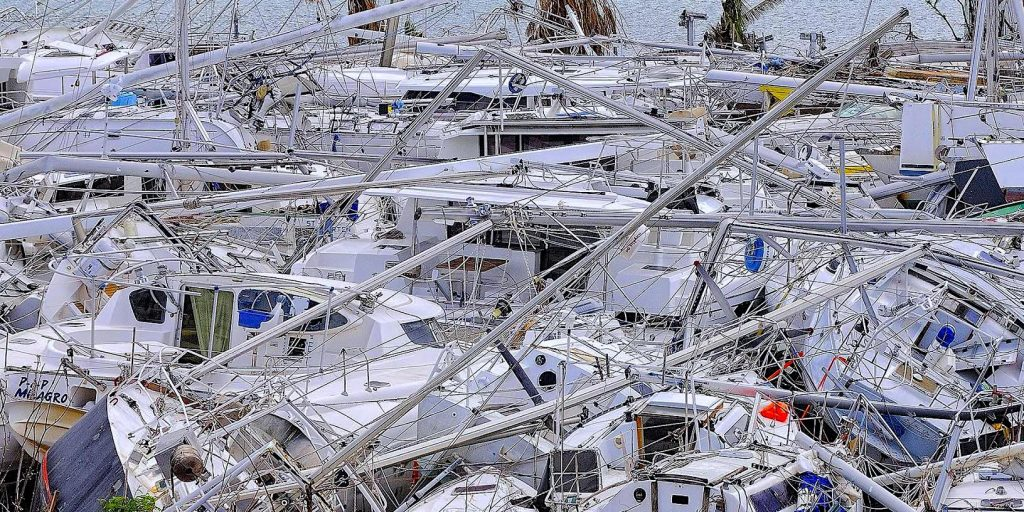 Saint-Maarten Island. Paris Boat Show takes stock of the aftermath of Hurricane Irma. Nasty surprises from insurance companies