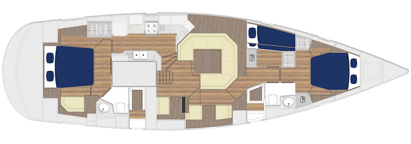 Discovery 54, interior layout
