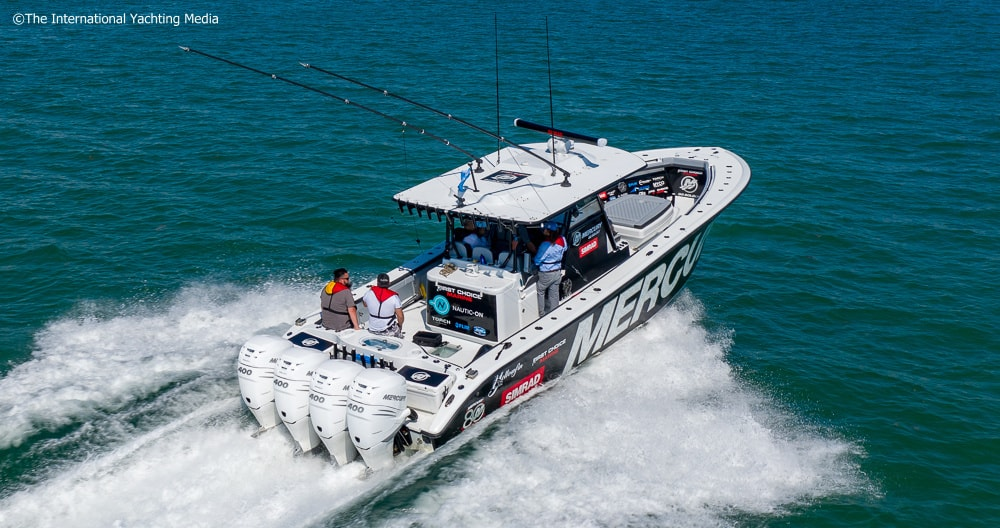 New Mercury Verado 400   World Premiere Test in Miami