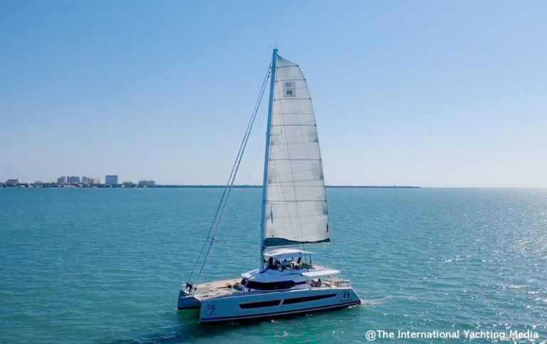 Fountaine Pajot Alegria 67 at sea
