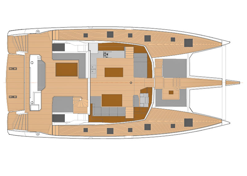Fountaine Pajot Alegria 67 layout