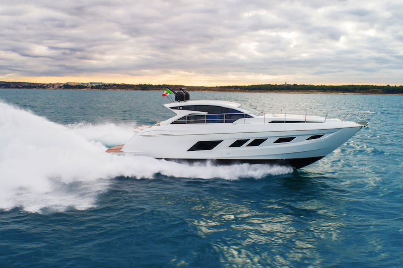 Filippetti S55, speed at sea