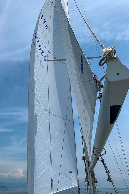 Dacron sails test