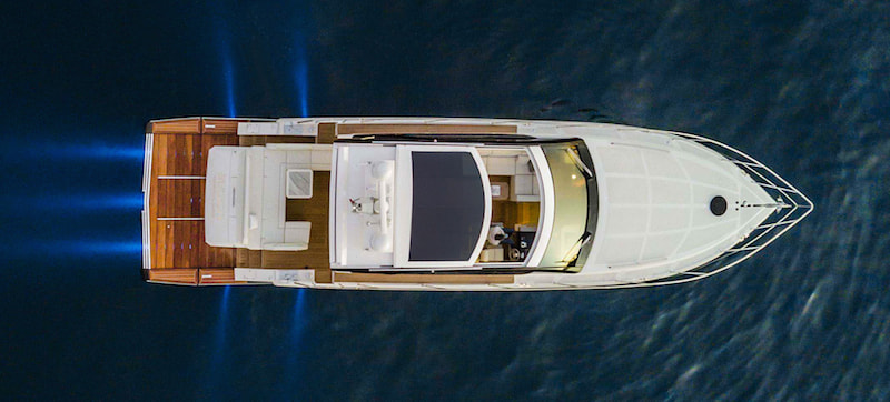 Rio Yachts Sport Coupe 56 seen from the sky