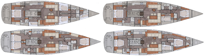 Contest 72 CS, interior layout