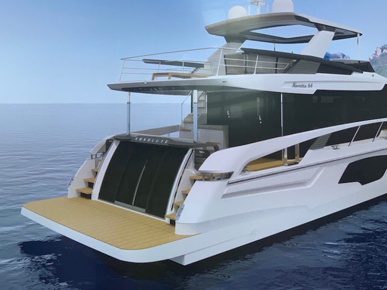 Absolute Navetta 64, aft section