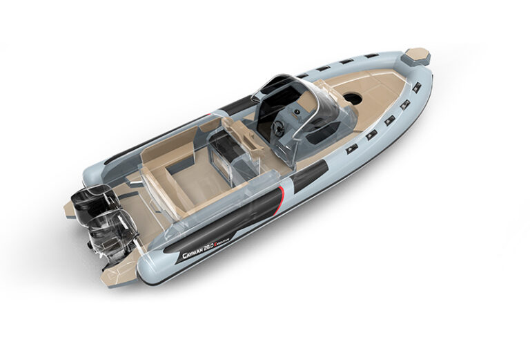 Cayman-28.0-Executive-top-view-and-engines