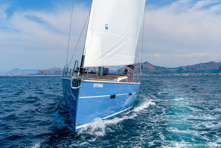 Kufner 54 sea trial bow