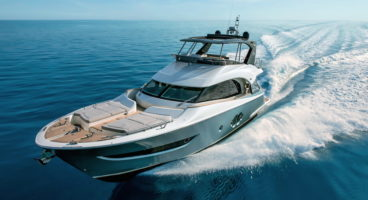 MCY66 sea trial at Venice Boat Show