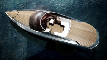 THE ASTON MARTIN'S SUPERBOAT PRESENTED AT THE SALONE DEL MOBILE IN MILAN